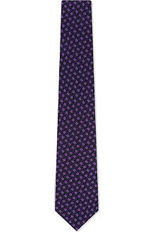 PAUL SMITH ACCESSORIES Mini daises silk tie