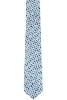 PAUL SMITH Mini daises silk tie