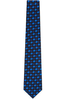 PAUL SMITH Geometric triangles silk tie