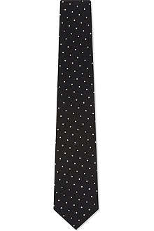 PAUL SMITH Contrast polka dot silk tie