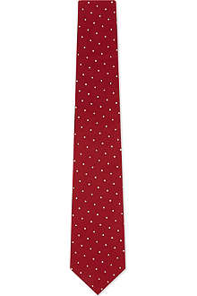 PAUL SMITH ACCESSORIES Contrast polka dot silk tie