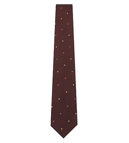PAUL SMITH Pin dot floral silk tie (Move