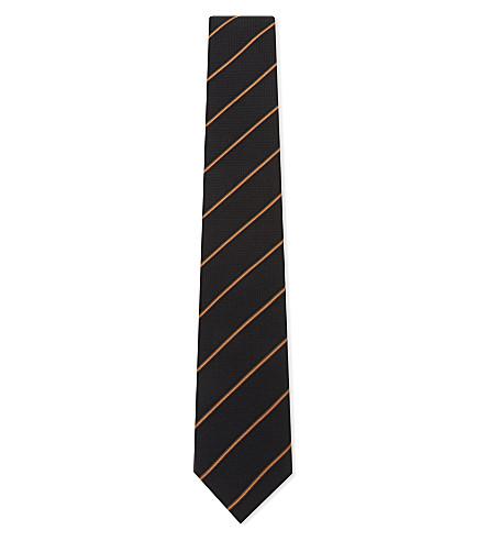 PAUL SMITH Multistripe silk tie (Black
