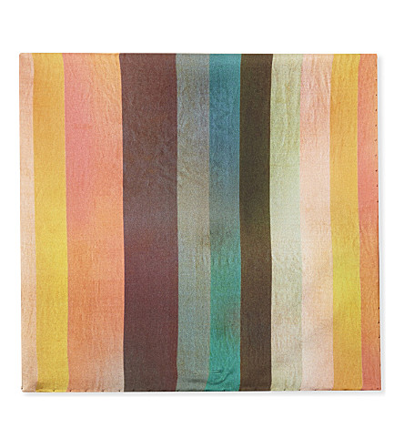 PAUL SMITH Artist stripe silk pocket square (Multi