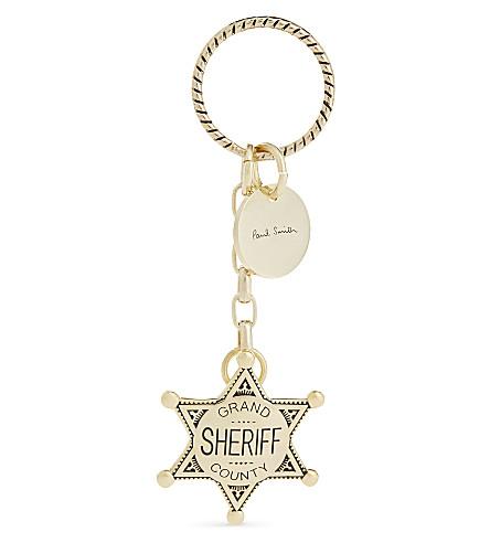 PAUL SMITH Sheriff's badge keyring (Gold