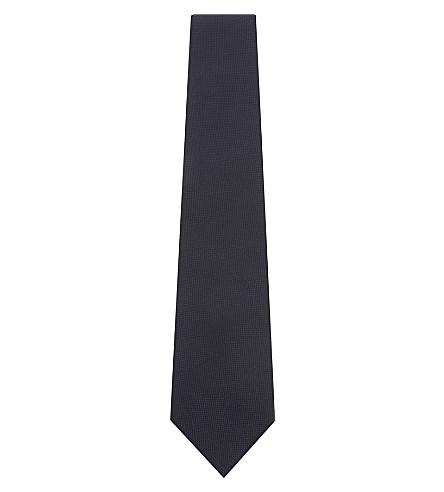 PAUL SMITH Rainbow-stripe woven silk tie (Navy
