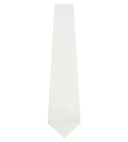 PAUL SMITH Floral silk wedding tie (Ivory