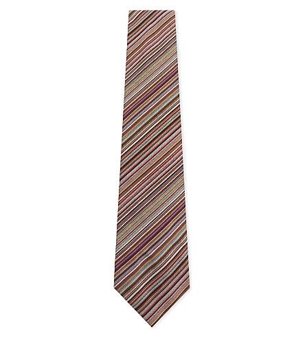PAUL SMITH Signature multi-stripe silk tie (Red