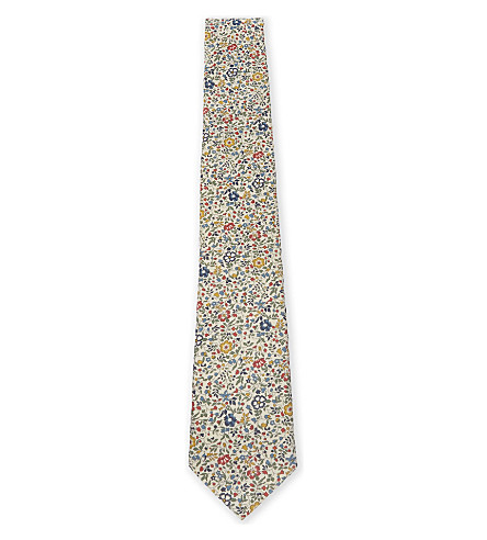 PAUL SMITH Paisley print cotton tie (Multi