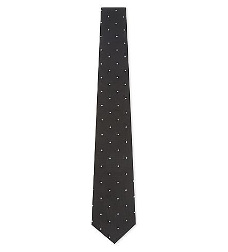 PAUL SMITH Polka-dot silk tie (Black