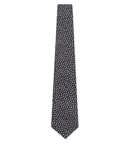 PAUL SMITH Mini heart silk tie (Navy