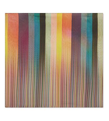 PAUL SMITH Faded stripe silk pocket square (Multi