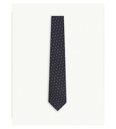 PAUL SMITH Multi-spot silk tie (Navy