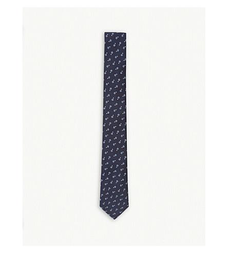 PAUL SMITH Floral-spot silk tie (Navy