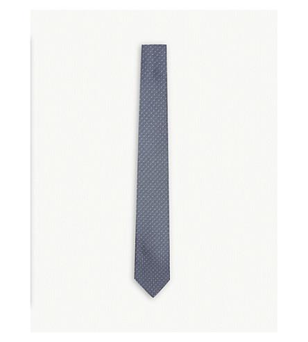 PAUL SMITH Micro-dot silk tie (Airforce