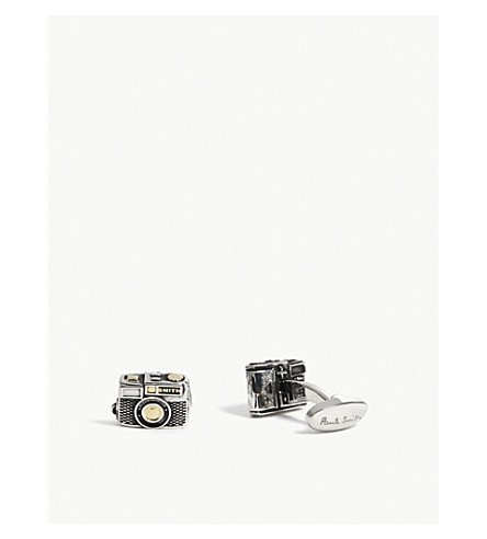 PAUL SMITH Camera cufflinks (Black