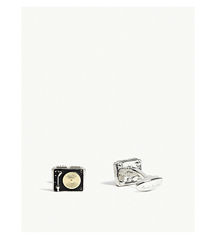 PAUL SMITH Vinyl player cufflinks (Black