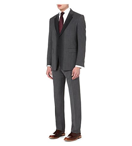 PAUL SMITH LONDON Three-piece stripey wool suit (Grey