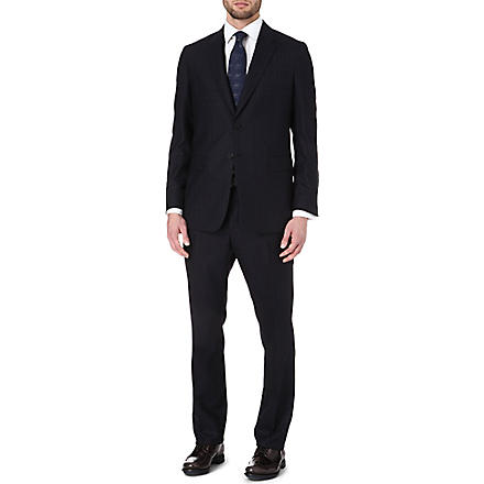 PAUL SMITH LONDON Rainbow dot three-piece suit (Navy