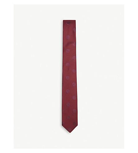PAUL SMITH Polka-dot woven silk tie (Burgundy