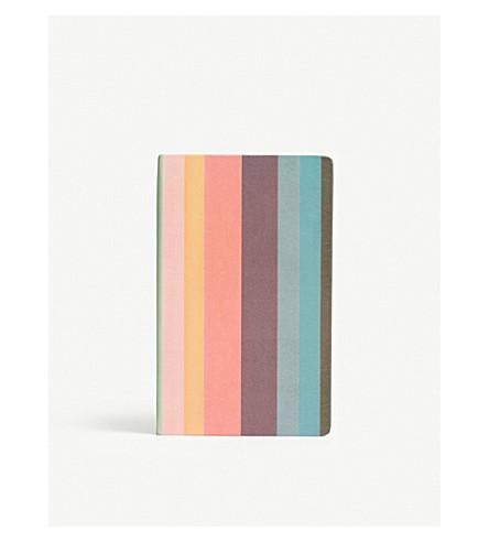 PAUL SMITH Striped medium notebook (Multi
