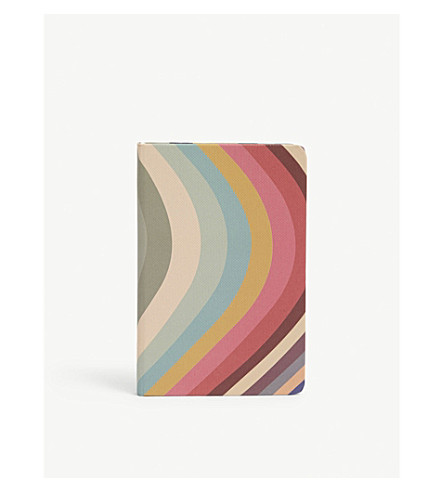 PAUL SMITH Artist Stripe pocket A6 notebook (Multi