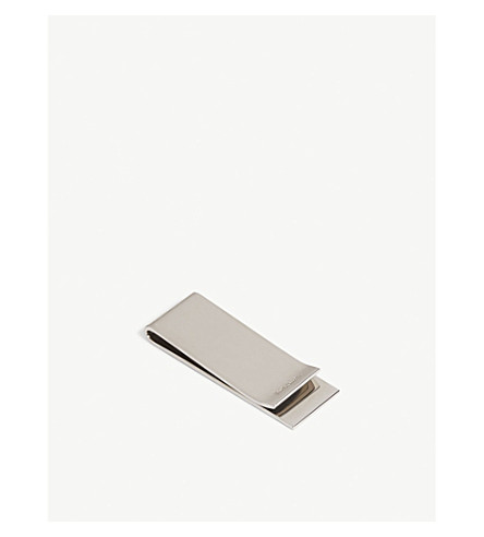 PAUL SMITH Mother of Pearl stripe moneyclip (Silver