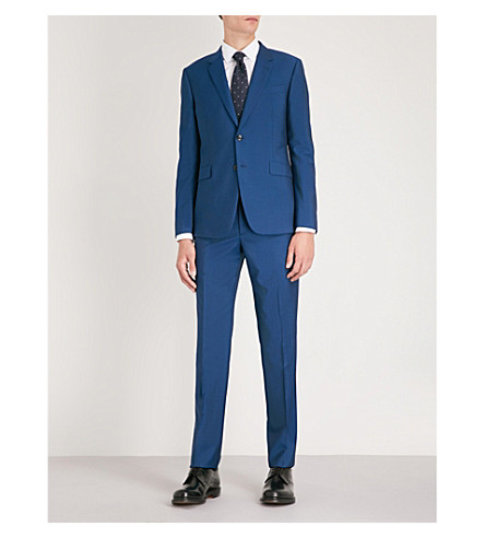 PAUL SMITH and Kensington mohair blend blue fit wool Mid suit wRrBPawq