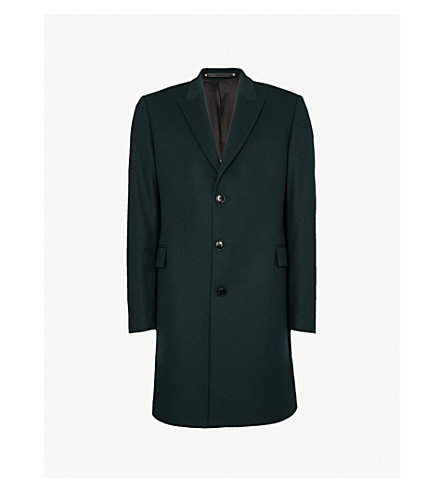 PAUL SMITH Epsom wool and cashmere-blend coat (Green