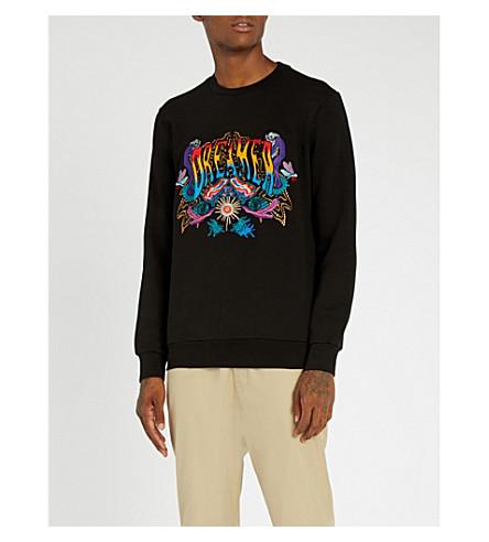 PAUL SMITH Dreamer embroidered cotton-jersey sweatshirt (Black