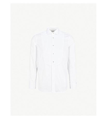 PAUL SMITH Honeycomb slim-fit cotton evening shirt (White