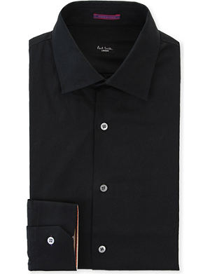 PAUL SMITH LONDON Contrast-cuff slim-fit cotton shirt