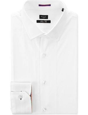 PAUL SMITH LONDON Contrast–cuff slim fit single cuff shirt