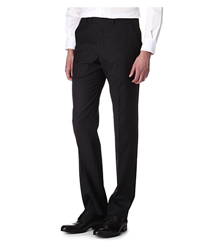 PAUL SMITH LONDON Slim-fit wool trousers (Black