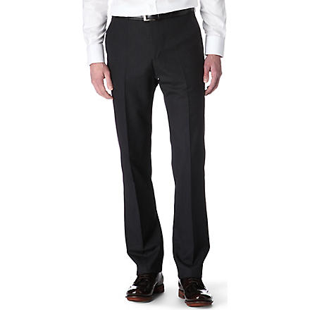 PAUL SMITH Slim-fit wool trousers (Grey