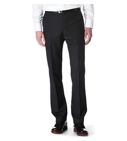 PAUL SMITH LONDON Slim-fit wool trousers (Grey