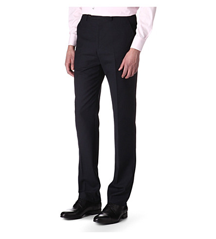 PAUL SMITH Slim-fit wool trousers (Navy
