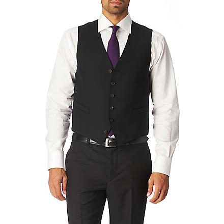 PAUL SMITH LONDON Single–breasted waistcoat (Black