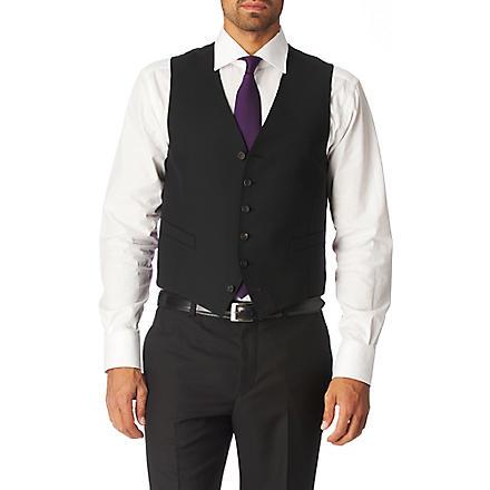 PAUL SMITH LONDON Single–breasted waistcoat (Black