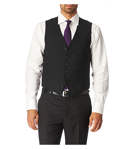 PAUL SMITH Single–breasted waistcoat (Black