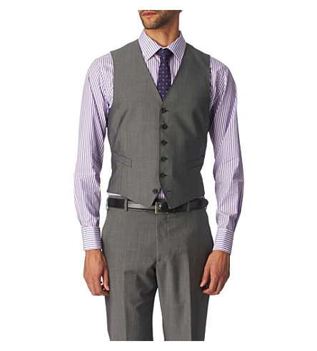 PAUL SMITH LONDON Single–breasted waistcoat (Grey