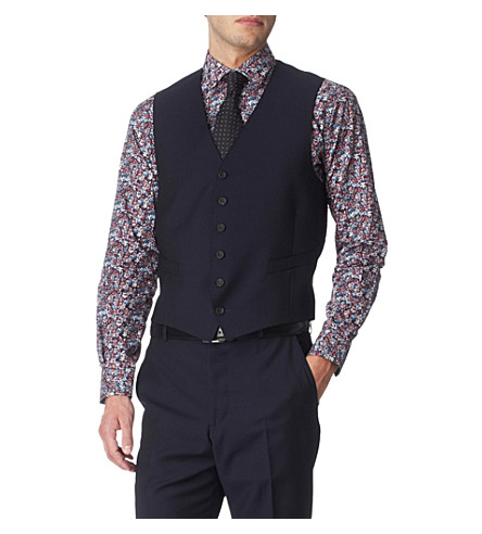 PAUL SMITH LONDON Single–breasted waistcoat (Navy