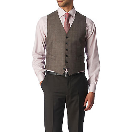 PAUL SMITH LONDON Byard single-breasted waistcoat (Brown