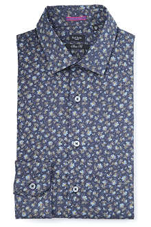 PAUL SMITH LONDON Floral slim fit single cuff shirt