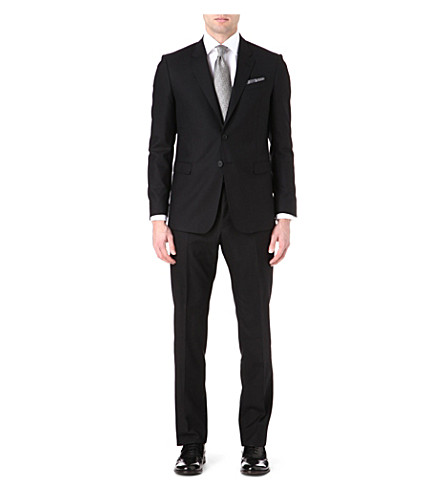 PAUL SMITH LONDON Two-piece wool suit (Black