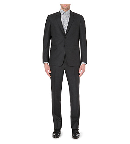 PAUL SMITH LONDON Slim-fit byard wool suit (Grey