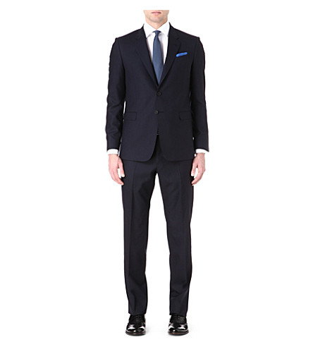 PAUL SMITH LONDON Slim-fit byard wool suit (Navy