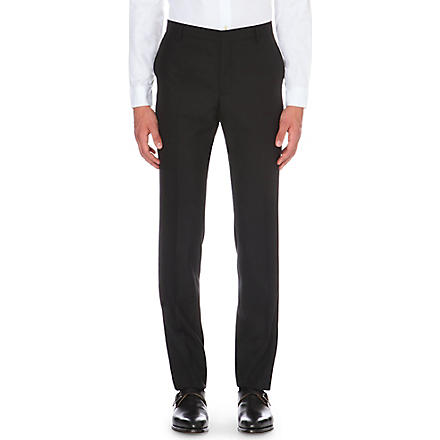 PAUL SMITH Tailor-fit wool trousers (Black