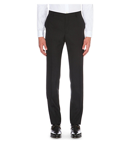 PAUL SMITH Tailored-fit wool trousers (Black