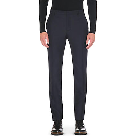 PAUL SMITH Tailor-fit wool trousers (Navy